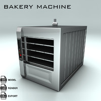 bakery machine bake 3d model