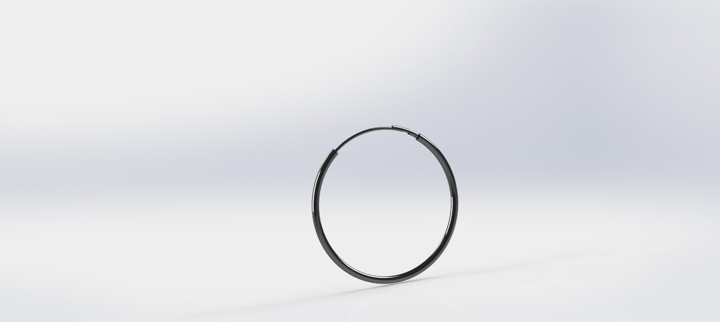 simple earring 3d model