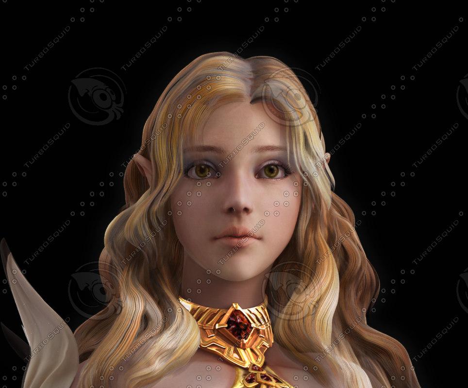 3d model female face