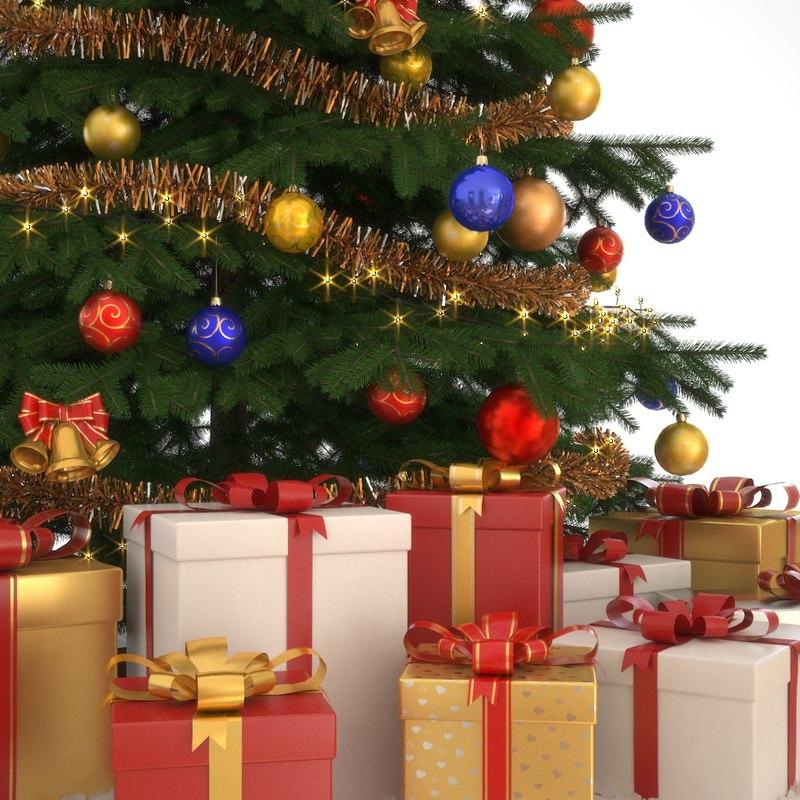 3d christmas tree model