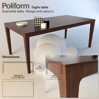 table poliform taglio 3d model