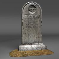 gravestone cemetery 3d model