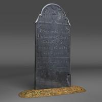 3d gravestone cemetery model