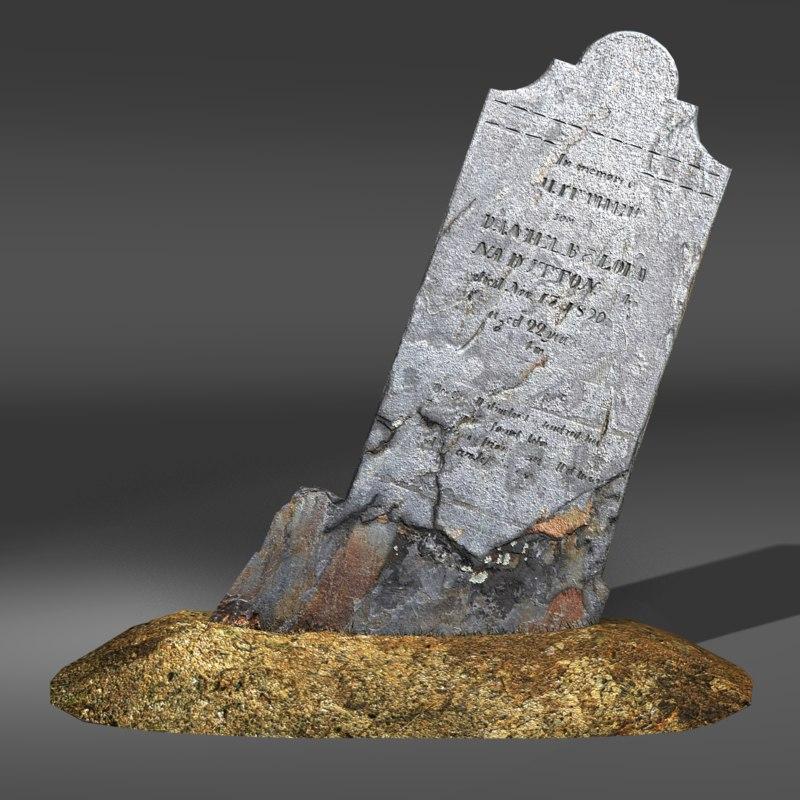 gravestone cemetery 3d obj