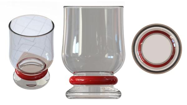 free obj model red glass
