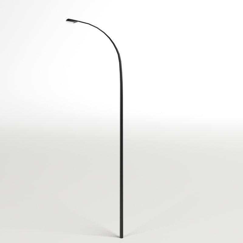 3d single street lamp model