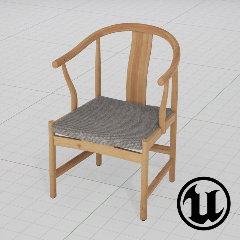 3d model unreal wegner china chair