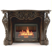 fireplace classic 3d model