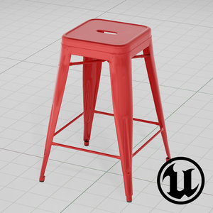 3d model unreal tolix bar stool