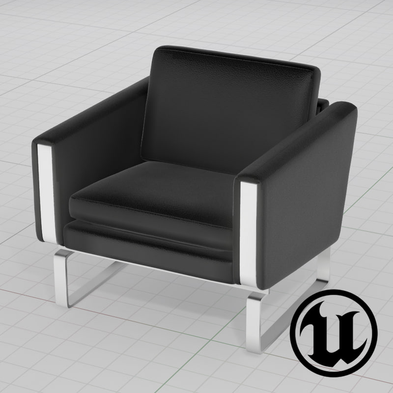 unreal wegner ch101 chair 3d x