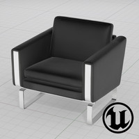 unreal wegner ch101 chair 3d x