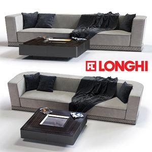 3d model of fratelli longhi welles sofa