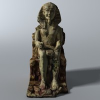 egyptian statuette 3d max