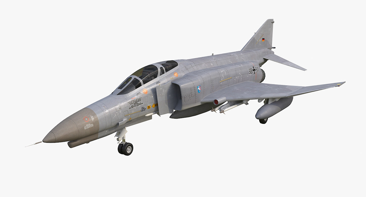 f-4 phantom ii luftwaffe 3d model