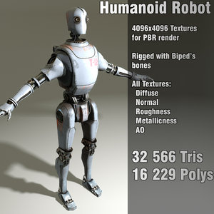 humanoid robot steampunk 3d 3ds