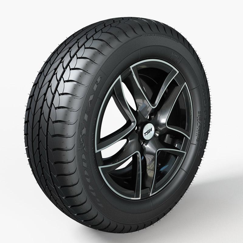 3d wheel tire model