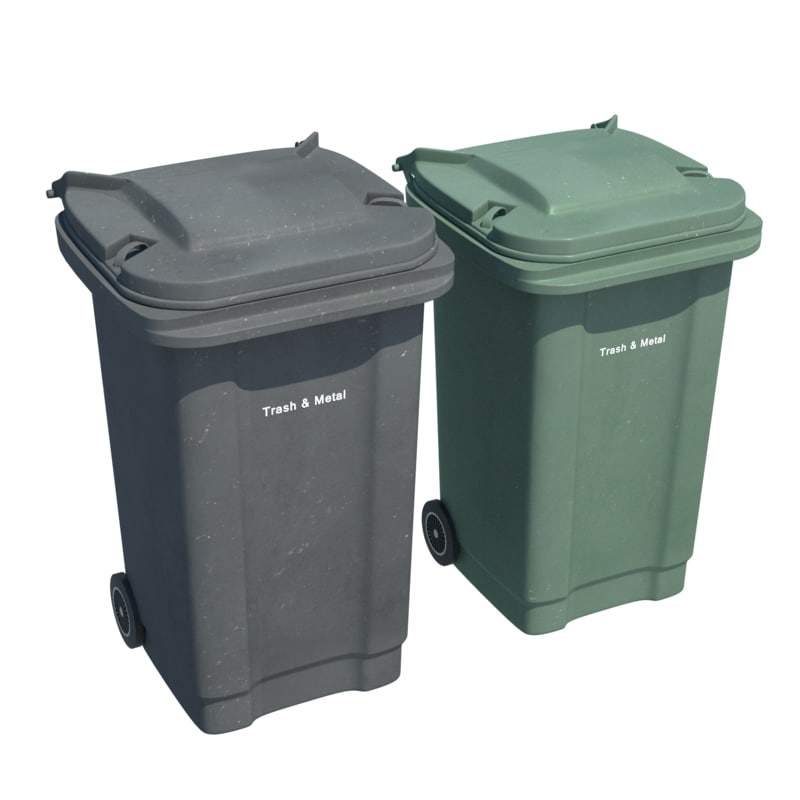 plastic trash bin 3d model
