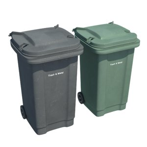 plastic trash bin 3d model