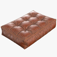 leather cushion pleats 3ds