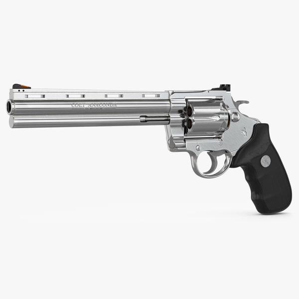 revolver colt anaconda 3d model