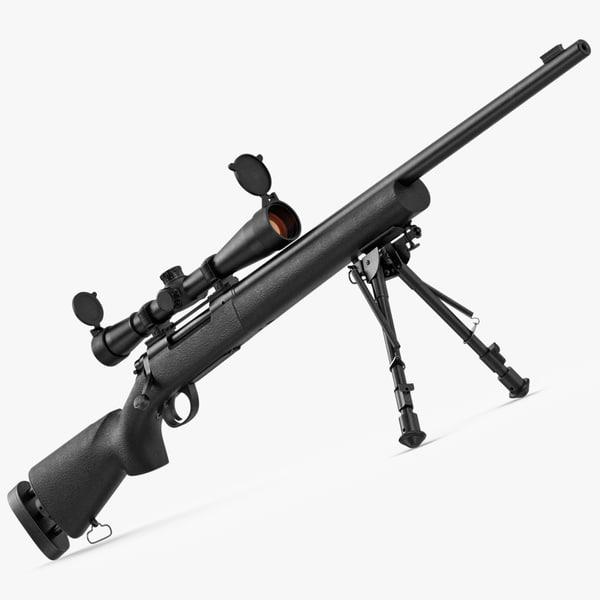 sniper rifle m24 3d ma