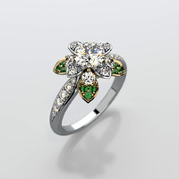 3d 3ds engagement ring gemstone