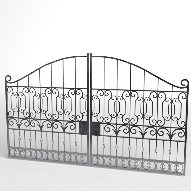 3d model iron gate 3