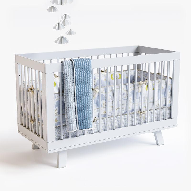 hudson crib 3d max
