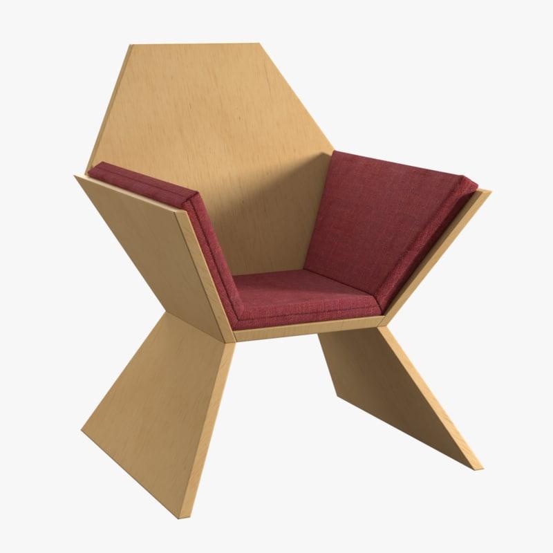 cushion chair 3d model