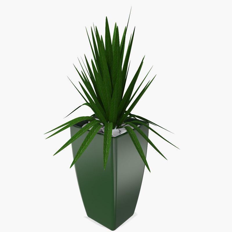 vase plant 3d 3ds