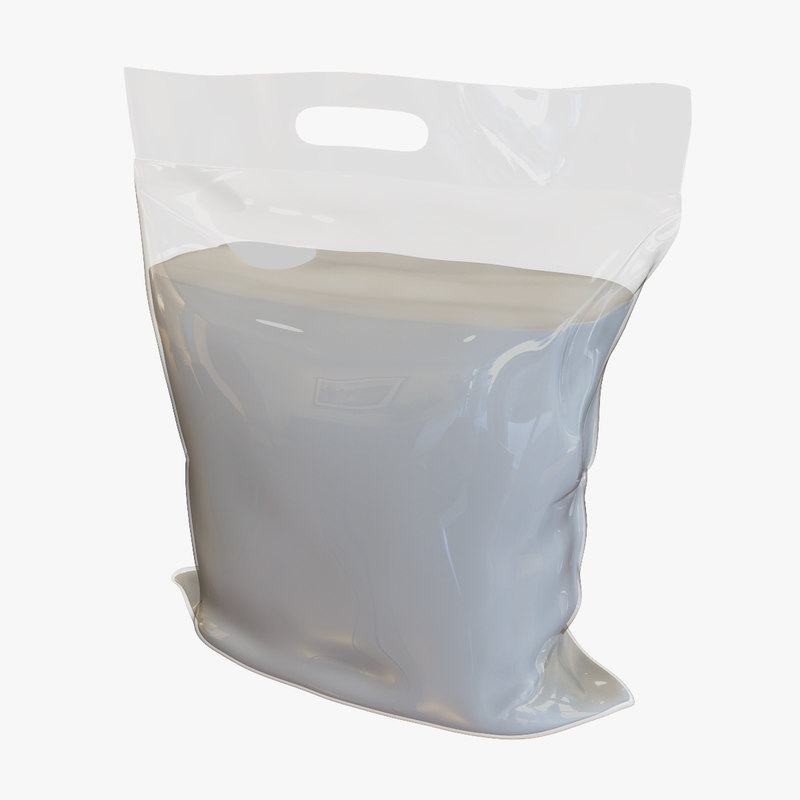 3d granulated sugar bag