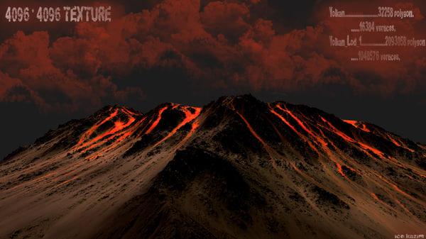 3d model volkano