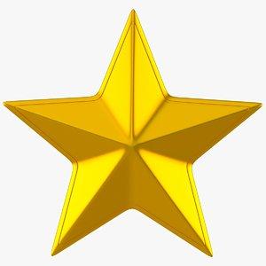 golden star 3d model