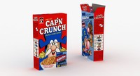3d crunch cereal box