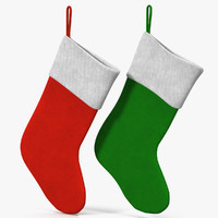 3d model christmas socks