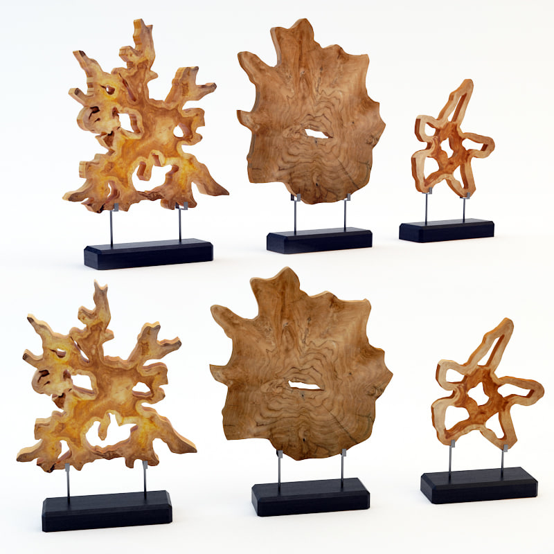 3d art wood decor set