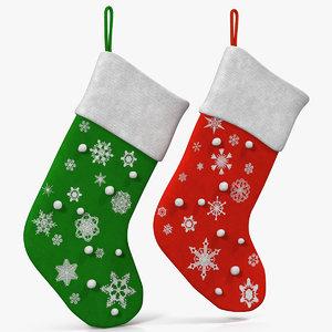 christmas socks 2 3d max