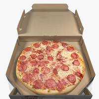 Pepperoni Pizza with Box