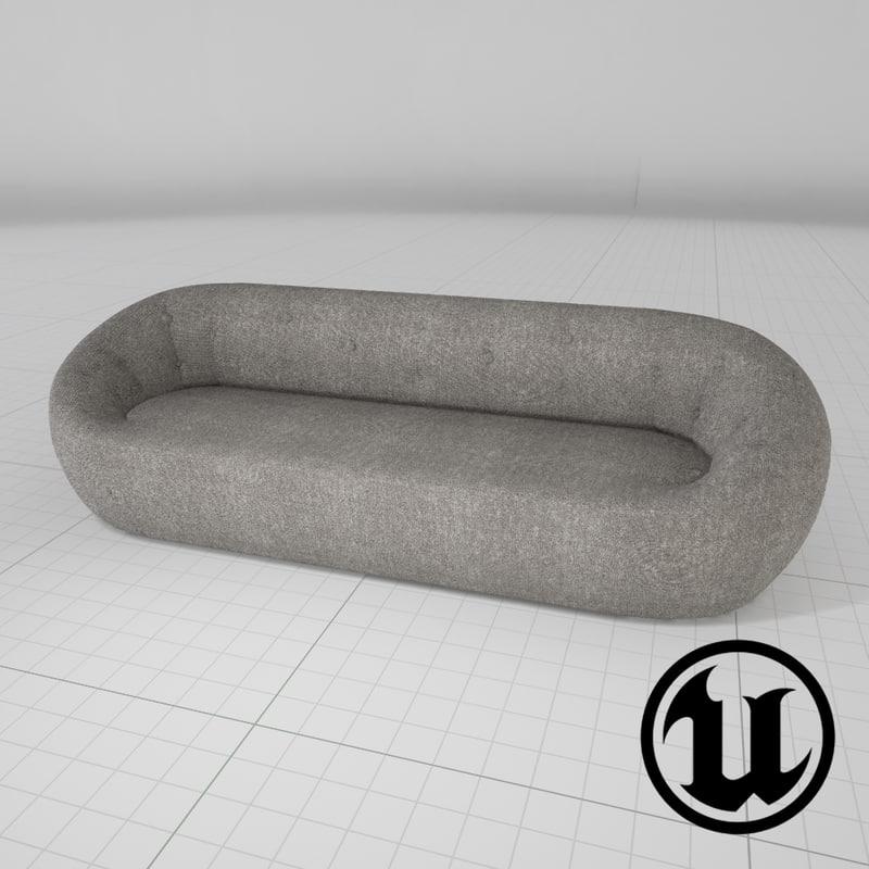 3d model unreal capsule ceres sofa