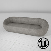 3d model unreal capsule ceres sofa
