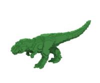 Voxel T-rex dinosaur