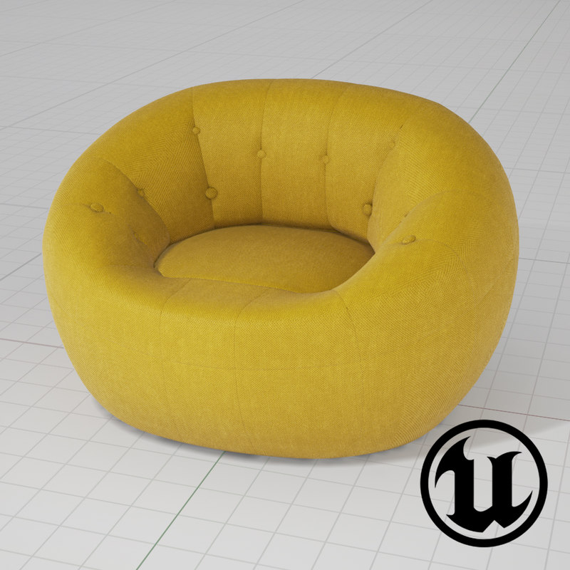 unreal capsule zippy chair 3d model