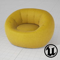unreal capsule zippy chair 3d model