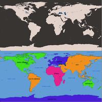 3d earthworldmapgoogleglobelandplanetlatitudelongitudescienceeducationspacehigh-precisionstate model