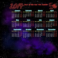 3d model calendar 2017