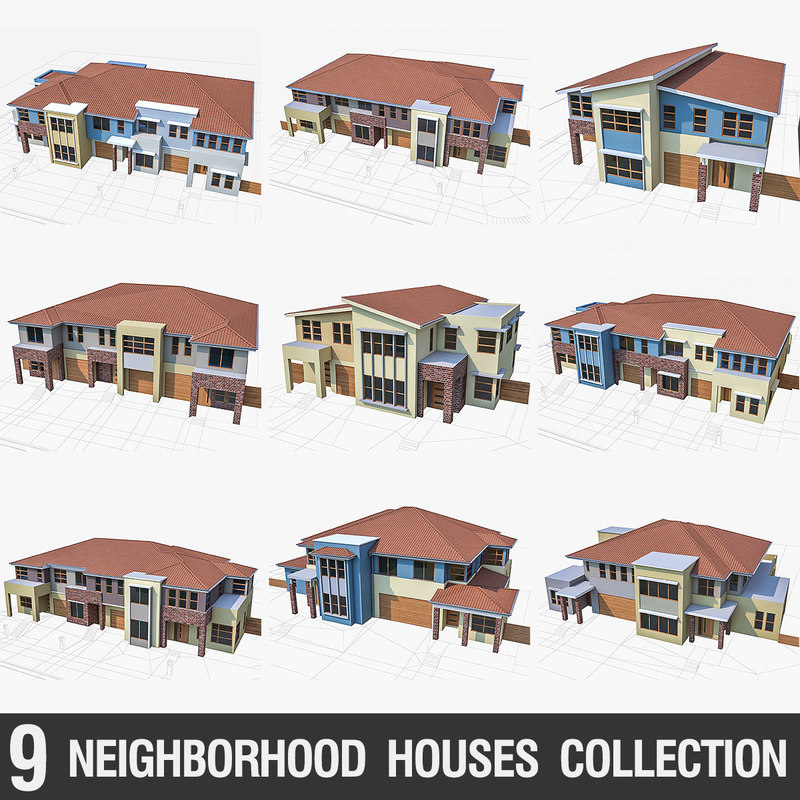 3ds houses townhouse neighborhood