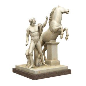 3d statue dioscuri