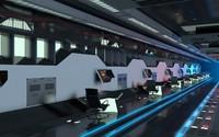 sci-fi hall 3d model