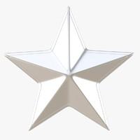 3d model silver star