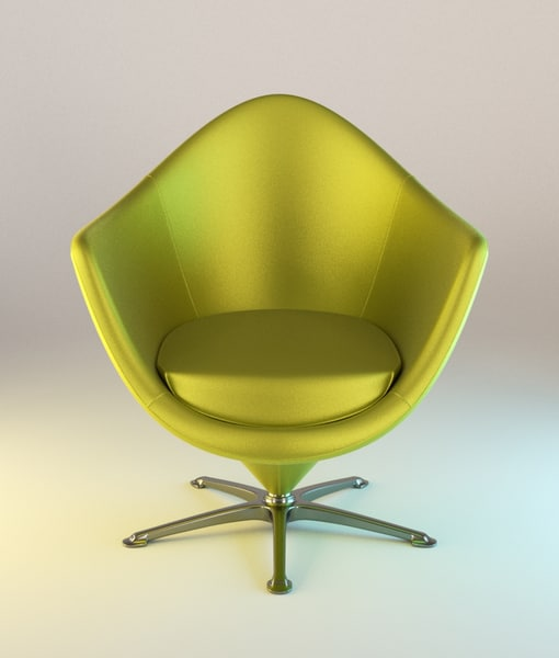 3d model blender armchair